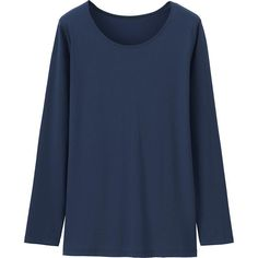 Uniqlo WOMEN AIRISM CREW NECK LONG SLEEVE T-SHIRT