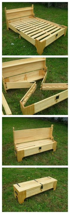 Amazing Custom Bed Folds Into a Chest For Easy Storage
