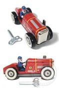 Red Racer No.8 Wind up tin toy