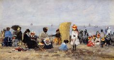 Trouville Beach Scene2 1881 | Eugene Louis Boudin | Oil Painting