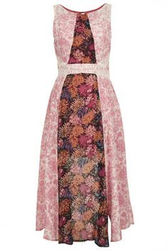 Topshop Floral Panel Dress - Topshop Reclaimed to Wear Collection 2013