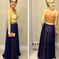 azul con dorado vestido - Buscar con Google