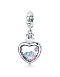 Silver Heart Dangle
