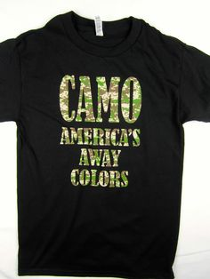 Camo America's away colors USA freedom tee shirt men's black Choose A Size #1StopTrendShop #GraphicTee