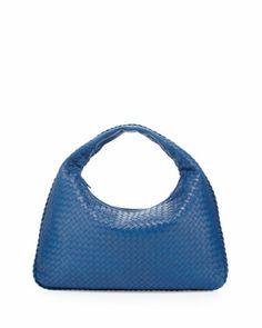 Large Lambskin Sac Hobo Bag, Royal Blue by Bottega Veneta at Neiman Marcus... I'm sooo getting this bag :)