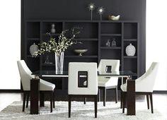 Pretty contemporary living room in black and white.