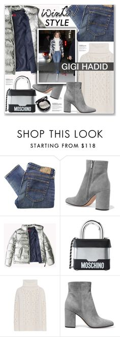 """""""GIGI HADID"""" by nanawidia ❤ liked on Polyvore featuring Denim & Supply by Ralph Lauren, Gianvito Rossi, Moschino, polyvoreeditorial and gigihadid"""