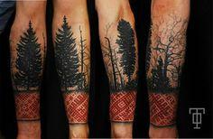 Latviešu raksti tetovējums