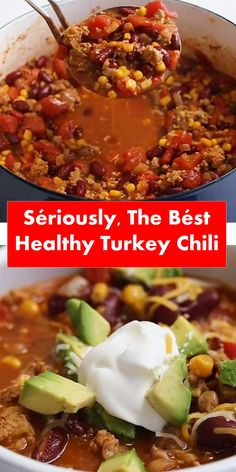 Seriously, The Best Healthy Turkey Chili Crockpot Recipes, Healthy Recipes, Chili Recipes, Easy Recipes, Healthy Food, Olives, Ground Turkey Dinners, Cake Mix Ingredients, Healthy Chili