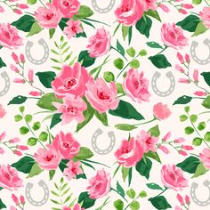 Run for the Roses (Small Version) fabric by sarah_treu on Spoonflower - custom fabric