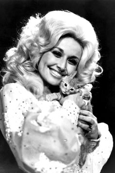 """A shoot from the seventies titled """"Dolly Parton and Friend."""""""