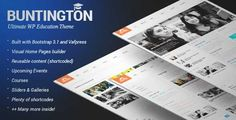 Download and review of Buntington - Education WP Theme, one of the best Themeforest Education themes