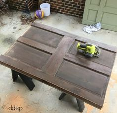 how to build a daybed from old doors, bedroom ideas, doors, how to, repurposing upcycling, woodworking projects