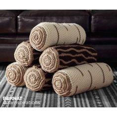 Crochet Timber Pillows. FREE crochet pattern