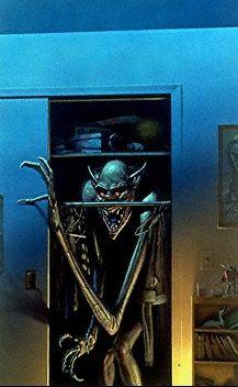 Michael Whelan illustration. Boogeyman. Monster in closet. http://www.glassonion.com/catalog/halloween.php