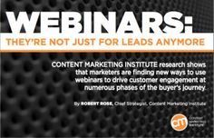 As businesses balance the effectiveness of new and existing marketing channels, webinars deserve a closer look. Get CMI's new research on webinars. Marketing Channel, Customer Engagement, Personal Branding, Research, Content Marketing, Business, How To Make, Strong, Goals