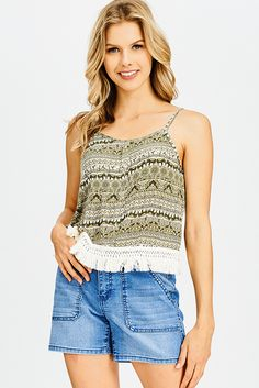 71d45d88cae58 ... BACK FRINGE TRIM BOHO CROP TANK TOP | Fringe Tops And Tunics For Women,  Boho Style Tops And Blouses, Cute Tank Affordable Prices Tops And Shirts,  Shop ...