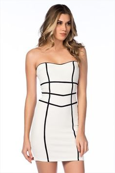 Beyaz Elbise 2762SS15329 TREND | Trendyol