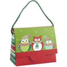 Pier One Owls Small Purse Gift Bag ($3.50) ❤ liked on Polyvore