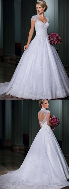 199$-free shipping dhl global. vestidos de noiva 2014 sweetheart open back cap sleeves bride dress bridal gown vestido de casamento removeable train LT116