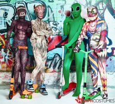 Kids Fancy Dress Costume Inspiration: Why should the adults have all the fun?? These kids Morphsuits have been carefully designed using our secret mix of spandex which means your suit will fit better, last longer and bring hours of fun. With awesome designs the kids can morph in to their favourite Superheroes, amazing animals or scary Halloween monsters.