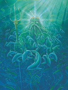 Mythological Painting - King Neptune by Richard Fields - Diet - Fashion - Woman's And Sea Drawing, Aquarius Tattoo, Sailor Tattoos, Creepy Tattoos, Tatoo Designs, King Art, Canvas Art, Canvas Prints, Sea Art