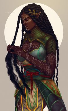 My name is Dahlia. Black Love Art, Black Girl Art, Art Girl, Elfa, Black Art Painting, Black Artwork, Fantasy Character Design, Character Art, Character Inspiration