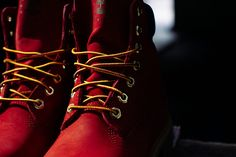 Timberland 6 inch Premium Red Boot 2 photo