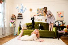 LOOK ITS US. YOU'RE THE ONE ON THE RUG LOOKING SEDUCTIVE AND IM PLAYING WITH SASHA AND REMMY.