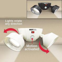 CORDLESS MOTION ACTIVATED SECURITY LIGHTS   Get Organized