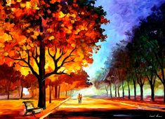 Flaming night  PALETTE KNIFE Oil Painting On by AfremovArtGallery, $339.00 Official Store on Etsy