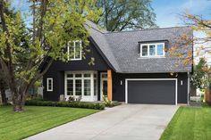 Explore the Mesmerizing Scandinavian Home Exterior Designs Ideas at The Architecture Design. Visit for more ideas about Scandinavian Home Exterior. Black House Exterior, Grey Exterior, Exterior House Colors, Exterior Paint, Exterior Design, Dark Grey Houses, Dark House, Charcoal House, Charcoal Paint