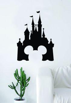 Disney Castle Mickey Mouse Decal Sticker Wall Vinyl Decor Art Movie Baby Teen Disney Girl Princess Cute Disneyland - green