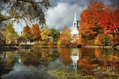 Harrisville, New Hampshire~~New-England-fall-landscape (77 pieces)