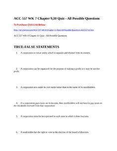 ACC 557 WK 7 Chapter 9,10 Quiz - All Possible Questions  To Purchase Click Link Below:  http://strtutorials.com/ACC-557-WK-8-Chapter-11-Quiz-All-Possible-Questions-ACC55710.htm