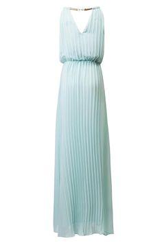 Pleated Maxi Chiffon Dress