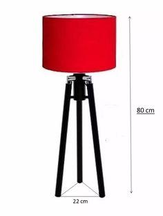 abajur luminaria  de chão tripé 80 cm