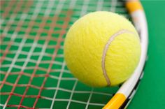 Yellow Tennis Ball And Racket