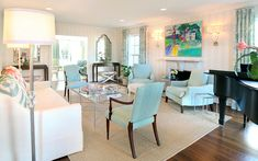 House of Turquoise: Tracy Hardenburg Designs Beautiful art that brings a punch of color to the room.