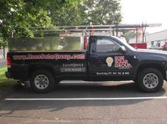 Have you seen Ross Solar Group's new decaled truck driving around Brookfield, CT? #cardecal #trucklettering