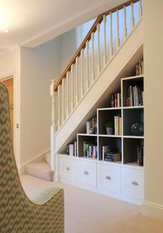 Awesome 30 Catchy Remodel Storage Stairs Design Ideas To Try. Storage Under Staircase, Stairway Storage, Space Under Stairs, Basement Storage, Basement Remodeling, Under The Stairs, Diy Understairs Storage, Under Staircase Ideas, Cabinet Under Stairs