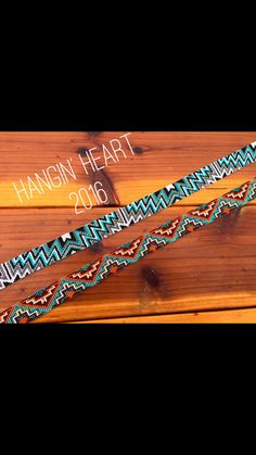 Hangin' Heart Beadwork. Beaded double Aztec