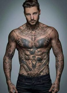 Mens Bird Chest Tattoo, Collar Bone Tattoo For Men, Bird Tattoo Men, Cool Chest Tattoos, Chest Tattoos For Women, Chest Piece Tattoos, Cool Tattoos For Guys, Male Chest Tattoos, Men With Tattoos