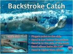 Swimming Tip for Backstrokers, courtesy of USA Swimming. These cam help me improve my back, which I only recently started to be competitive in. Usa Swimming, Swimming Memes, I Love Swimming, Swimming Diving, Swimming Tips, Swimming Drills, Swim Training, Triathlon Training, Swim Technique