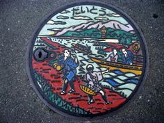 Japan: different areas, different manhole covers.