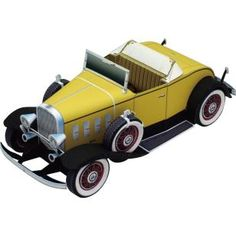Chevrolet Confederate Deluxe Sports Roadster,Vehicles,Paper Craft,North America / South America,United States,yellow,Classic car,automobile