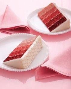 Red velvet ombré wedding cake!    #EndoraJewellery - Custom Swarovski crystal jewelry