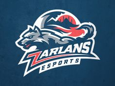 Zarlans by Igor Mariev on Dribbble Football Logo Design, Game Logo Design, Badge Design, Typography Logo, Art Logo, Logo Branding, Sports Decals, Esports Logo, Sports Team Logos