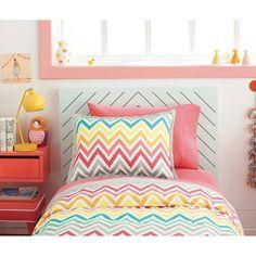 Printed Chevron Comforter Set - Xhilaration™. Image 4 of 4.