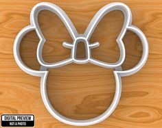 Mickey Mouse Cookie Cutter, Selectable sizes from 1 to 8 inches, Sharp Edge Upgrade Minnie Mouse Cookies, Minnie Mouse Theme, Mouse Cake, Mickey Minnie Mouse, Pink Minnie, Minnie Birthday, 3rd Birthday Parties, 2nd Birthday, Birthday Ideas